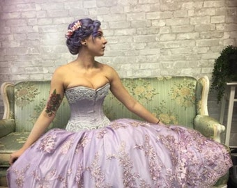 Lilac wedding gown sample