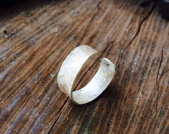 Forging silver ring