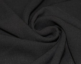 Black 59'' Solid Linen Look Light-Weight Poly Fabric by the Yard - Style 688
