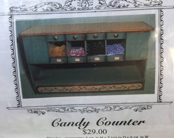 """Dollhouse Miniature 1"""" Scale Lisa Engler Candy Counter Kit (Itz)"""