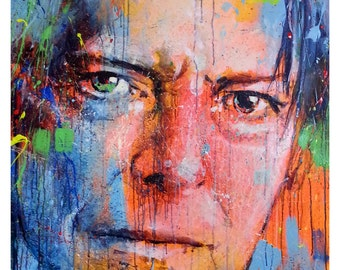 Bowie- small print on paper, Giclée