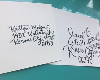 Hand-Lettered Modern Calligraphy Envelopes