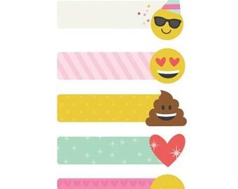 Simple Stories - Carpe Diem - Emoji Love Collection - Page Flags - 150 pieces - 8031