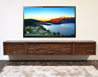 wall mounted tv stand console eco geo 3 piece mocha