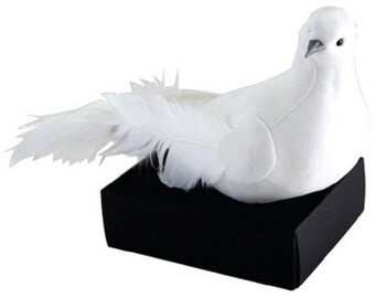 Felt & Feather White Dove Of Peace Figurine On Base Sparkling