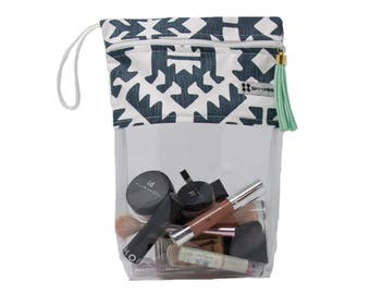 Tribal Poolside Resort Bag- Clear Waterpoof bag for Pools, Beach, Travel, and More- ready to ship