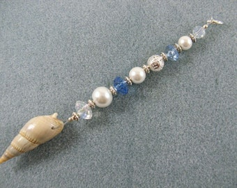 Mermaid mini hair bead strand with seashell