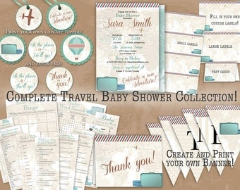 """Vintage Travel Complete Baby Shower Collection 