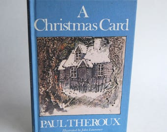 Vintage Children's Book, A Christmas Card