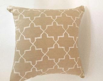 Madeline Weinrib blockprinted pillow