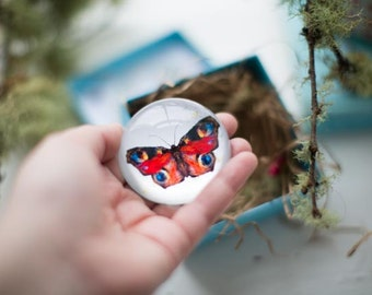 Butterfly Paperweight, keeper of secrets and wishes