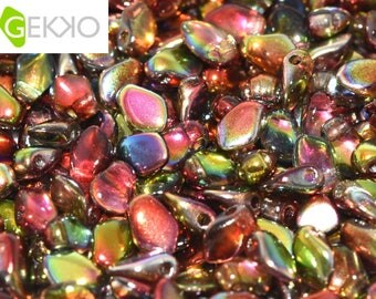 Gekko® Beads Crystal MAGIC APPLE, 3 x 5mm, 5 grams (approx 100 beads)