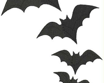 Bat Halloween Decorating Machine Embroidery Designs