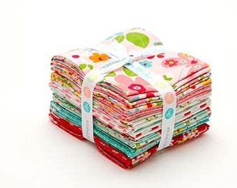 FREE US SHIPPING - Fat Quarter Bundle- Pre-Cut- Quilting Fabrics - Garden Girl by Zoe Pearn for  Riley Blake Designs