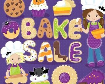 80% OFF SALE Halloween clipart, dessert clipart, halloween treats commercial use, bake sale vector graphics, digital clip art, - CL1025