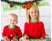 Childrens christmas pajama (ships within a week)