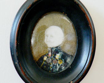 A small 19th Century portrait miniature of Lord Gough.