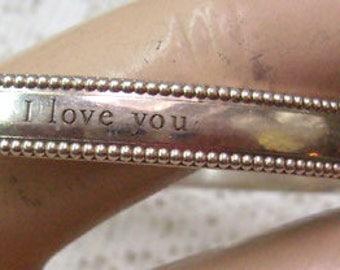 "Sale...Vintage  ""TIFFANY & CO."" Bangle Bracelet...Tiffany ""Yours- I Love You"" Collection Sterling Bracelet...Weighs 22.80 Grams"