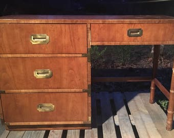 Vintage Dixie Campaigner Desk/ Vanity