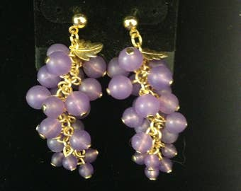 Dionysian grape earrings