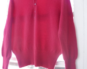 SALE   -   100%Cashmere  Cherry Red Sweater