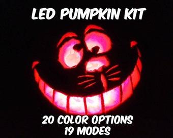 2 LED Pumpkin Halloween Candle Kits AA Battery Operated 5050 RGB