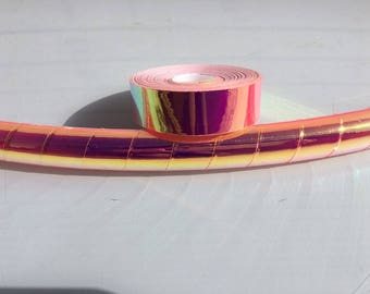 "3/4"" UV Pink FireFly Transparent Hula Hoop Tape"