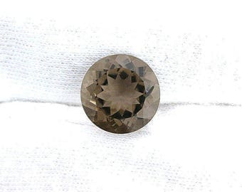 12mm  round  smoky quartz gem stone gemstone natural