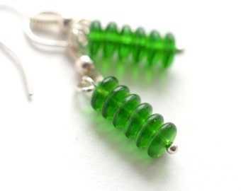 small earrings green cluster earrings gift for her original earrings bridal earrings girlfriend gifts beaded earrings everyday earrings