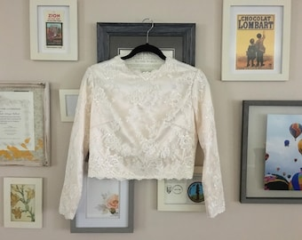 Embroidered Ivory/Champagne Bridal Top