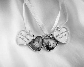 Custom Heart Wedding Bouquet Photo Memory Charm Bridal Party Gift Keepsake Momento