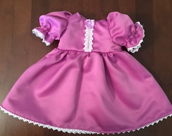 Mauve and lacy doll dress, American Girl doll dress, Our Generation doll dress 18 inch doll dress