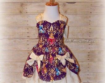 Princess dress , Aurora dress, Cinderella dress, Belle dress,Rapunzle dress