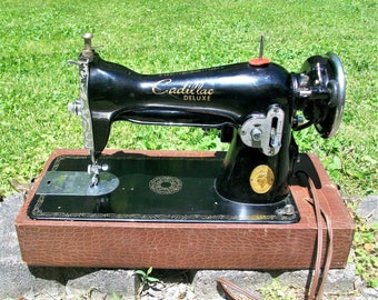 Vintage RARE Cadillac Portable Sewing Machine ~ Works