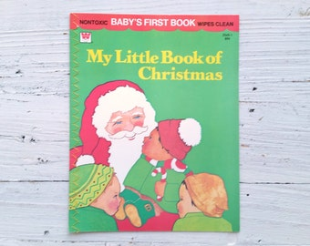 Vintage My Little Book Of Christmas Book . Vintage Book . Vintage Christmas . Children . Kids . Baby Book . Whitman Baby's First Book . 1977