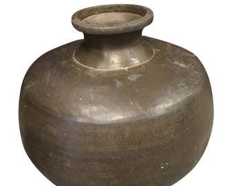 Copper Brass Metal Pot Vintage Water Urn Pitcher Handmade hammered finish Vase Bohemian Rustic Home Decor