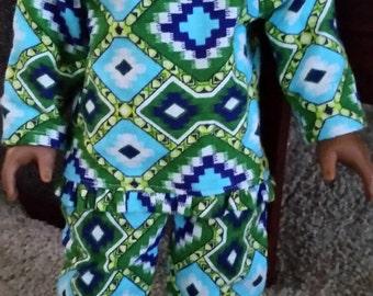 "18"" Doll Flannel Pajamas"
