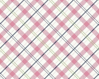 Enchanted Plaid Pink Riley Blake Fabric