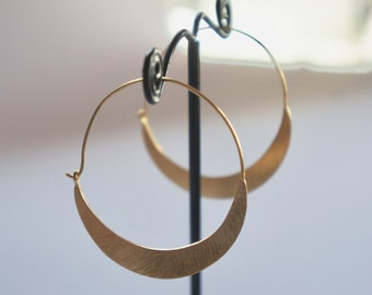 Gold plated silver hoops. Sterling silver hoop earrings