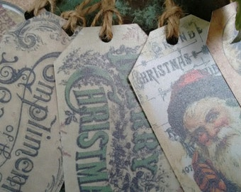 10 Shimmery Victorian Christmas gift tags
