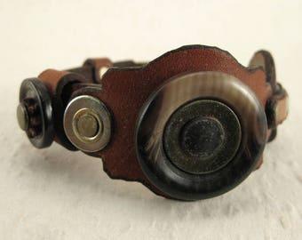 403 Minimalist Steampunk Boho Bracelet Recycled Jewelry