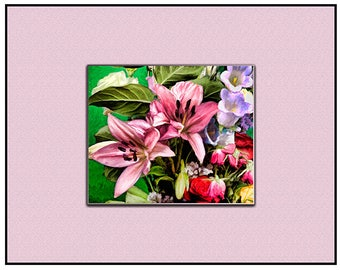 Fine art print with Mat all in one. Mounted and ready to hang or frame, 11 by 14. Plus fast and free shipping