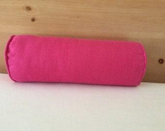 Dark Rose Linen Pillow Cover, 6''x16'', Decorative Bolster Cover