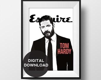 Tom Hardy - Esquire magazine - illustration - digital download