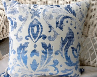 Ikat Tapestry Pillow Covers - Blue and white - Richloom fabric - Tapestry Pillows - Pillow covers - designer pillow covers - Ikat pillows