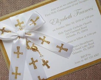 15x First Holy Communion Invitations