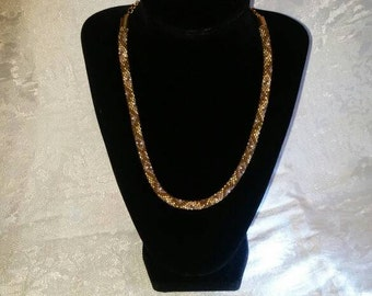 Beaded Crochet Snake Rope Chain Necklace