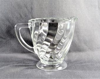 Swirl Glass Creamer Small Pitcher