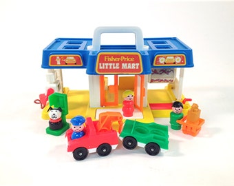 Vintage Fisher Price Little Mart #2580 / 100% Complete / Little People 1988 / Toddler Preschool Toy / Ages 2-6 / 1980s Toys