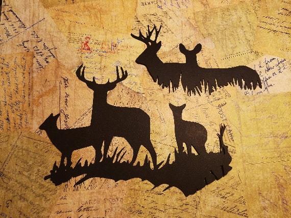 Deer scenery silhouettes b 18 from cherokeetreasures on for Deer scenery